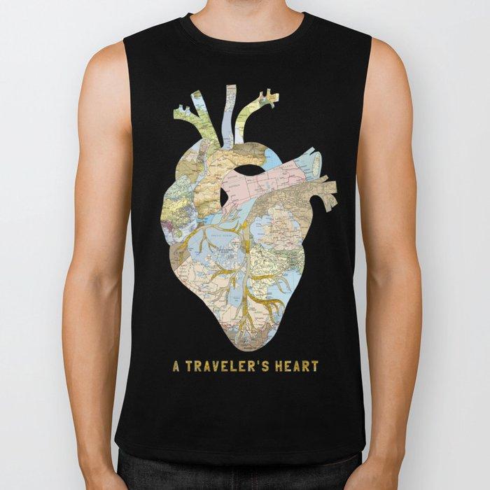 A Traveler's Heart Biker Tank