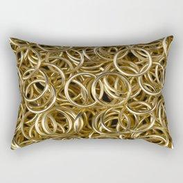 Gold Rings Rectangular Pillow
