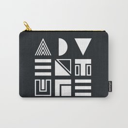 Adventure Shapes B&W Carry-All Pouch