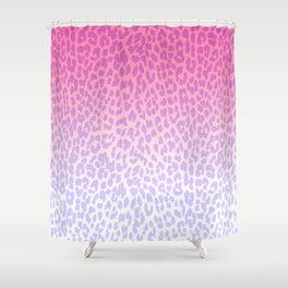 Modern girly pink lavender ombre animal print Shower Curtain