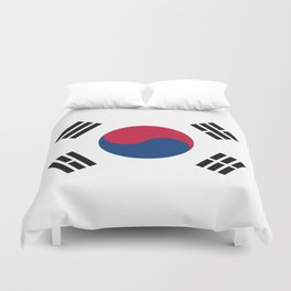 National flag of South Korea, officially the Republic of Korea, Authentic version - color and scale Duvet Cover