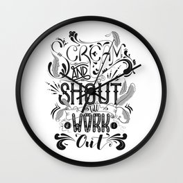 Scream And Shout... Wall Clock