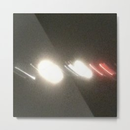 Abstracte Light Art in the Dark Version 34 Metal Print