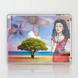 Beautiful Scenery Flowers & Girl Blowing Bubbles Laptop & iPad Skin