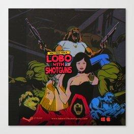 Lobo With Shotguns Canvas Print