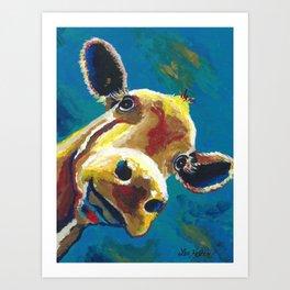 Colorful Cow art 'Gertrude' Art Print