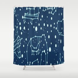 Animais ligando pontos Shower Curtain