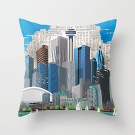 Toronto Skyline wide Throw Pillow
