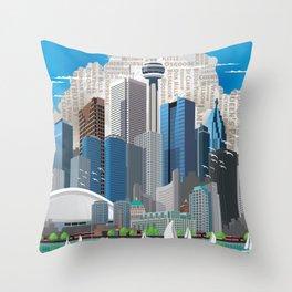 Toronto Skyline wide Throw Pillow