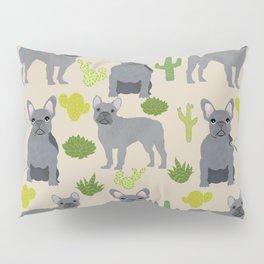 Frenchie french bulldog grey cactus desert southwest dog breed by pet friendly Pillow Sham
