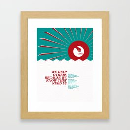 Help Others Framed Art Print