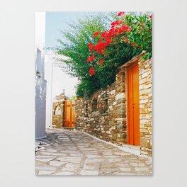 Pyrgos street Canvas Print