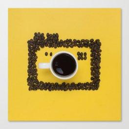 Coffee camera Canvas Print