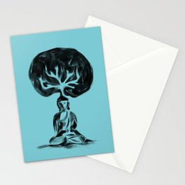 Cool Buddha - Moods of blue Stationery Cards