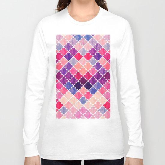 Watercolor Lovely Pattern VVXII Long Sleeve T-shirt