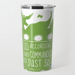 Noahs Ark - Bible - And Noah Did According to All that God had Commanded him Travel Mug