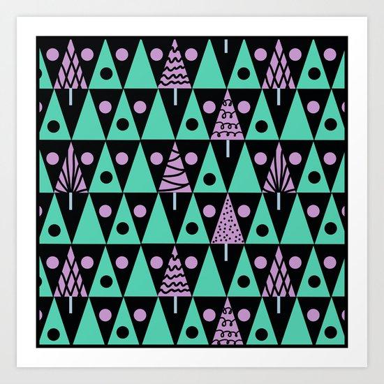 Christmas pattern . Art Print