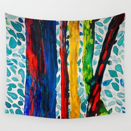 Rainbow Eucalyptus Graffiti Artist Tree naturally shedding bark from the South Pacific Wall Tapestry