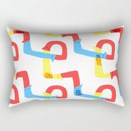Hamster tube fun time Rectangular Pillow