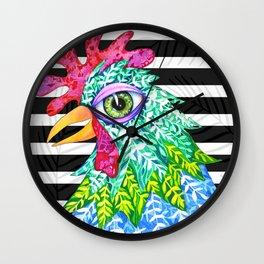 Chicken Ivy Wall Clock