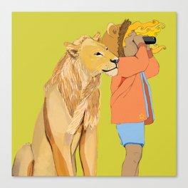 Lion Girl Canvas Print