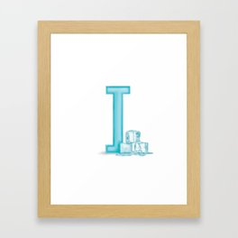 I is for Ice Framed Art Print