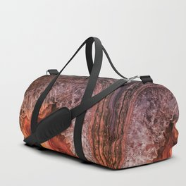 Copper Brown Agate Mineral Gemstone Geode Duffle Bag