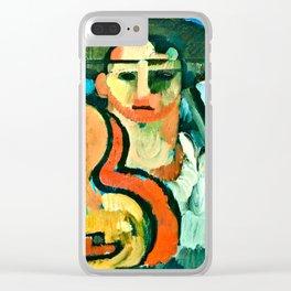 Cavaquinho by Amadeo de Souza Cardoso Portuguese Colorful Expressionism Clear iPhone Case
