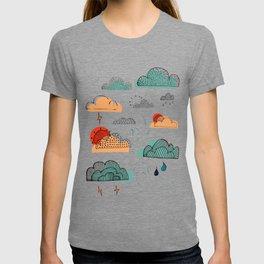 Weather Patterns Clouds Midnight-Blue T-shirt