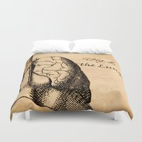 lungs Duvet Covers featuring Figure 2 the Lungs by NeverlandDream