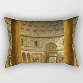 Giovanni Paolo Panini The Interior Of The Pantheon Rome Rectangular Pillow