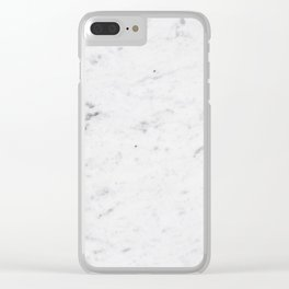 White Marble #1 #texture #marble #decor #art #society6 Clear iPhone Case