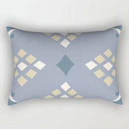 Tribal Inspired Pattern Grey Rectangular Pillow