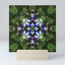 Fractal Forest Indigo Mini Art Print