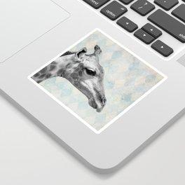 Retro Giraffe Sticker