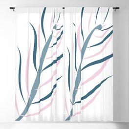 Delicate Lutescens Minimalist Botanicals Art Blackout Curtain