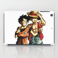 luffy iPad Cases featuring Monkey D. Luffy and Son Goku by The Big Duo