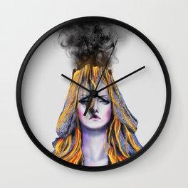 Volcano lady Wall Clock