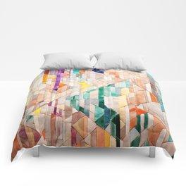 Pastel Tile Mosiac 1 Comforters