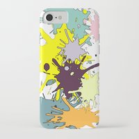 splatter iPhone & iPod Cases featuring Splatter by fauzita