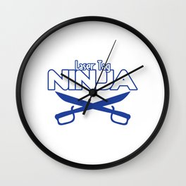 Funny Laser Tag Party T-Shirt Mode On Laser Tag Ninja Wall Clock