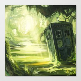 Tardis In The Swamp Canvas Print