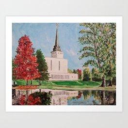 London England LDS Temple Painting Art Print