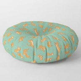 Orange Tabby Tiling Pattern Floor Pillow