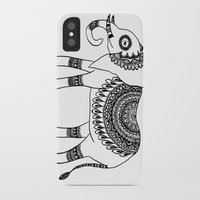 henna iPhone & iPod Cases featuring Henna Elephant by Julie Erin Designs