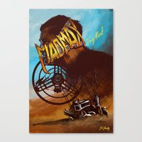 mad max Canvas Prints featuring Mad Max by marourin