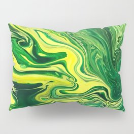 Elegant Crazy Agate 5 - Green and Yellow Pillow Sham