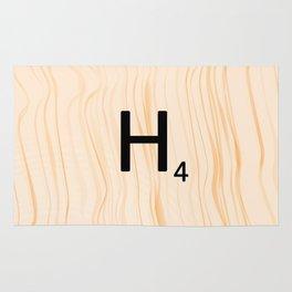 Scrabble Letter H - Large Scrabble Tiles Rug