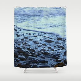 Waves on the Beach Photography Print Shower Curtain