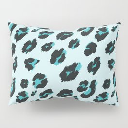 Blue Leopard Design Pillow Sham